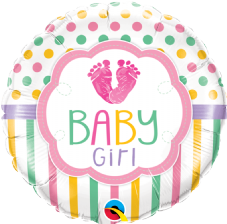 'Baby Girl Lov(footprints)e' Foil Balloon